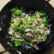Rijst, broccoli, paksoi