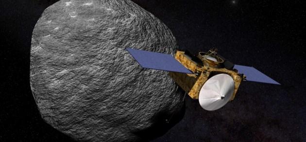 Sonde verzamelt materiaal van asteroïde op 333 miljoen kilometer