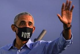 Barack Obama voert campagne voor Biden en sneert naar Trump: 'Democratie werkt niet als leider elke dag liegt'