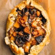 Koolraap, paddenstoelen, gruyère, tijm