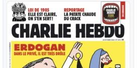 Erdogan vervolgt 'schurken' van Charlie Hebdo