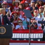 Blog verkiezingen VS   Britse politicus Nigel Farage op rally Trump