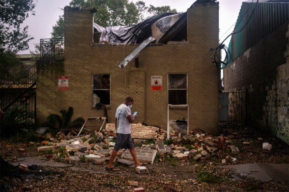 Orkaan Zeta aan land gegaan in Louisiana