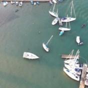 Dronebeelden tonen schade in Turkse jachthaven na aardbeving