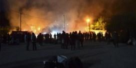 Brand in vluchtelingenkamp op Samos