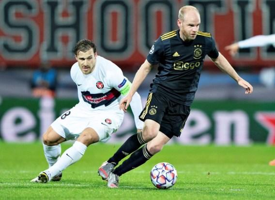 """Davy Klaassen (Ajax) speelt Champions League in Denemarken nadat hij 's middags nog thuis zat: """"Van het vliegtuig recht naar het stadion gegaan"""""""