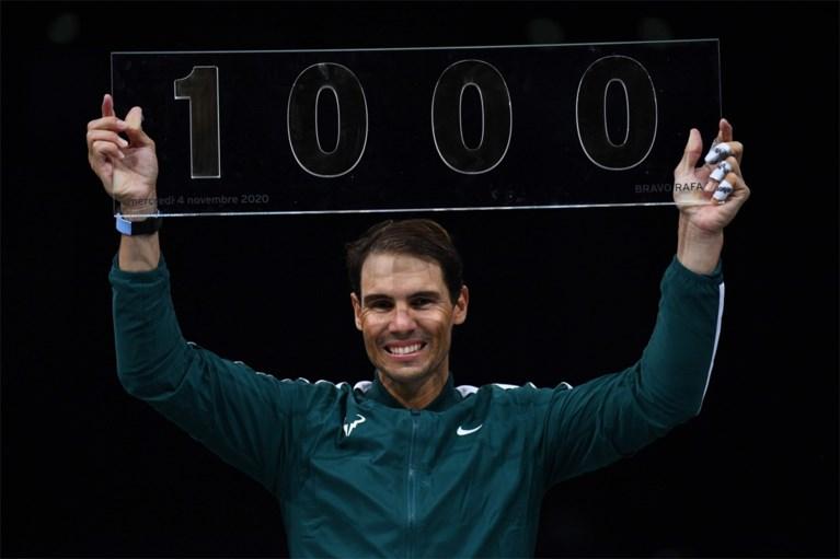Feestje! Rafa Nadal boekt in Parijs de duizendste zege uit zijn carrière