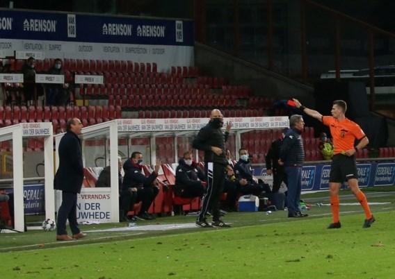 Rode kaart in derby levert KV Kortrijk-coach Yves Vanderhaeghe schorsing op tegen Beerschot komend weekend