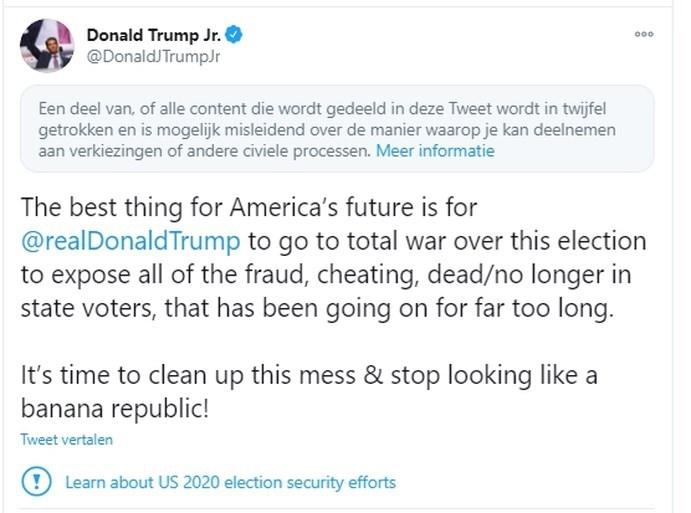 Socialemediaplatformen grijpen in na opruiende taal in entourage Trump: 'Ik zou Fauci's hoofd op stok spietsen'