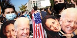 Fans Biden komen massaal op straat om te vieren