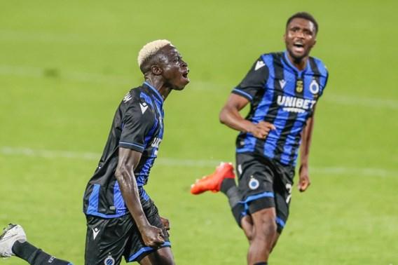 Club Brugge komt naast Charleroi aan de leiding na een 1-3 zege in de West-Vlaamse derby op bezoek bij KV Oostende