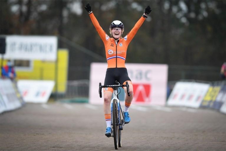 Weer goud voor oranje: Puck Pieterse kroont zich tot Europees beloftekampioene