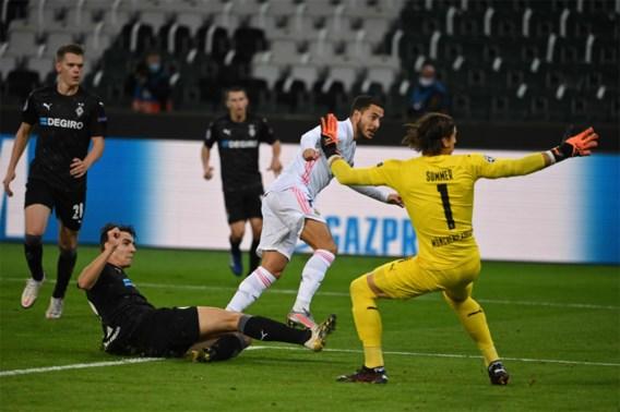 Real in vieze papieren: invaller Eden Hazard ziet hoe zijn ploeg in extremis een (schamel) puntje pakt tegen M'Gladbach
