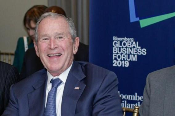 Oud-president George W. Bush feliciteert Joe Biden