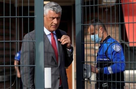 Kosovaarse ex-president Thaçi pleit onschuldig op proces over oorlogsmisdaden