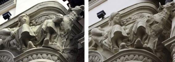 Restauratie gaat de mist in: hoofd beeldhouwwerk onherkenbaar