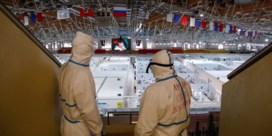 Russen bouwen schaatsbaan om tot coronahospitaal