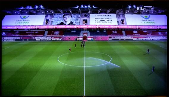 Opvallende tifo tijdens België-Denemarken moet nieuwe tips opleveren over vermiste Théo Hayez