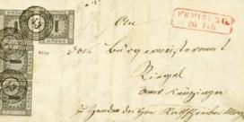 Brief met historische postzegel geveild voor liefst 430.000 euro in Duitsland