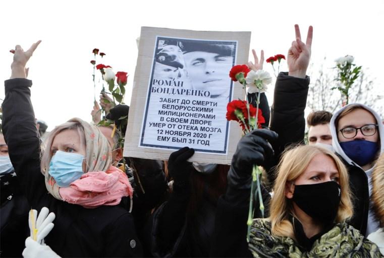 'Dronken' Wit-Russische betoger die door politie werd doodgeslagen, had nul procent alcohol in bloed