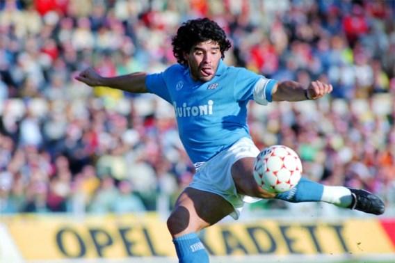 De god van Argentinië voorgoed in het hemelsblauw