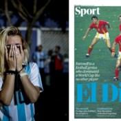 Duizenden fans eren Maradona, Rode Duivels halen voorpagina The Guardian