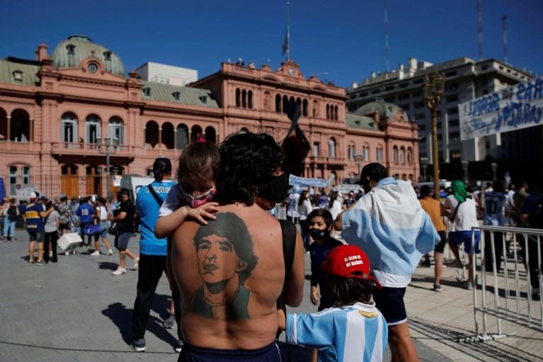 Diego Maradona begraven in Buenos Aires