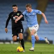 Kevin De Bruyne helpt Manchester City met twee assists aan forfaitzege tegen Burnley
