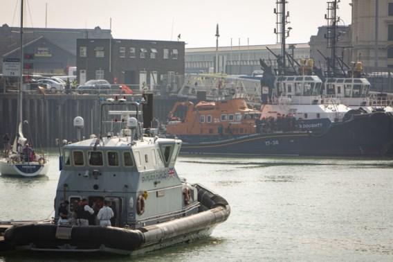 Ruim 120 migranten gered op het Kanaal