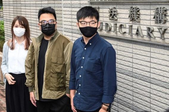 Hongkongse activist Wong moet naar de cel: 'Maar we houden vol'