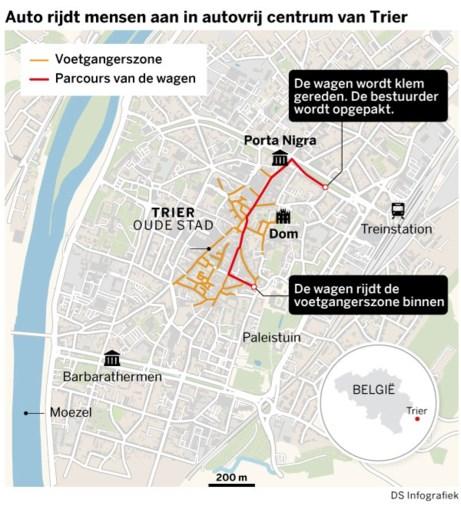Minstens vijf doden in Trier door dronken bestuurder