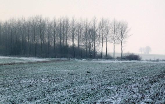 Zwaarbewolkt in Vlaanderen, sneeuw in Ardennen