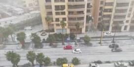 Voor het eerst in meer dan vijftig jaar hagelstorm in Beiroet