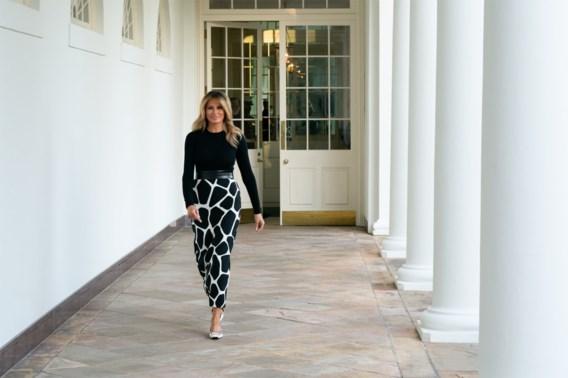 Melania Trump onthult nieuw tennispaviljoen van Witte Huis (en krijgt kritiek)