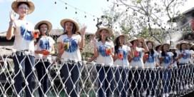 Dertig kandidaat-missen zakken door brug tijdens fotoshoot