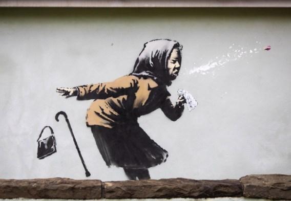 Nieuwe muurschildering van Banksy in Britse Bristol
