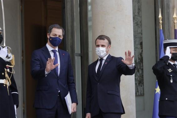 De Croo test negatief na contact met besmette Macron