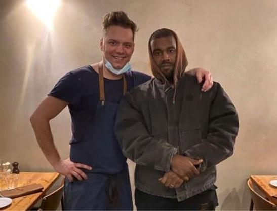 Kanye West gespot in Antwerps restaurant