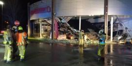 Dak van Leen Bakker-winkel in Marche-en Famenne ingestort