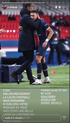 """Kylian Mbappé bedankt coach Tuchel: """"Niemand zal uw passage hier vergeten"""""""