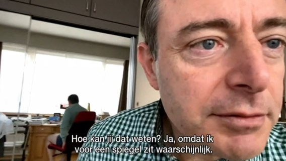 Bouchez heeft oplossing voor gênant moment van Bart De Wever tijdens video-interview