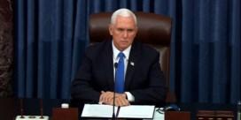 Mike Pence veroordeelt betogers: 'Geweld wint nooit'