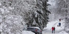 Regen gaat over in sneeuw