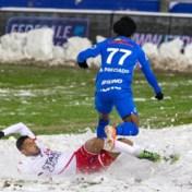 Sneeuwpret hoort niet bij voetbal