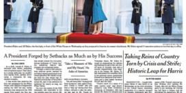 Kranten focussen op boodschap en eenheid en overwinning democratie
