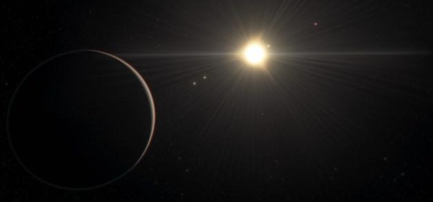 Een perfect getimede rondedans van planeten