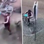 Nederlandse relschopper zet fiets netjes terug na smeekbede van eigenares