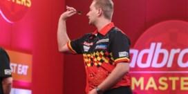 'Dancing' Dimitri van den Bergh meteen uitgeschakeld op Masters darts