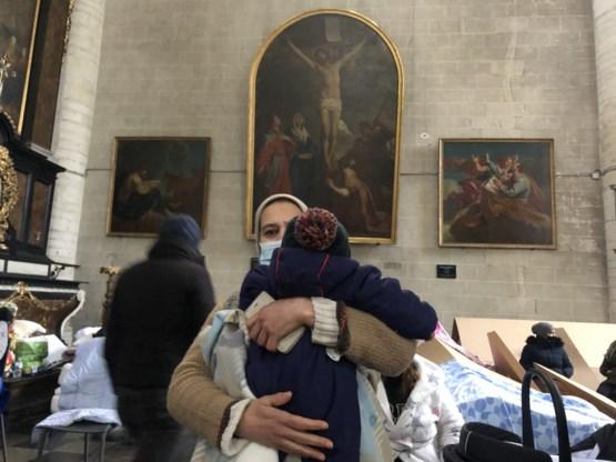 Begijnhofkerk in Brussel bezet door sans-papiers