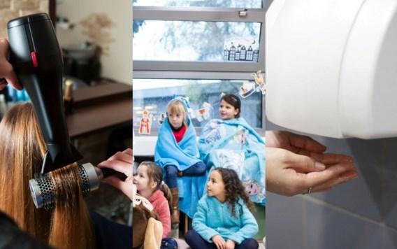 Voorzichtig met droogblazers en haardrogers: nieuwe adviezen voor kappers, scholen en bedrijven